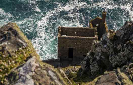 Cornish engine houses on the Cornish cliffs are an integral part of Cornwall's landscape.