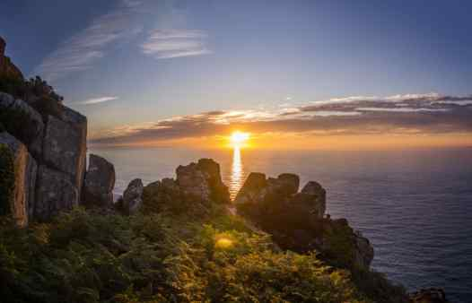 Cornwall Underground Adventures are spoilt for scenery in this stunning county. An epic sunset at an ancient cliff mine.