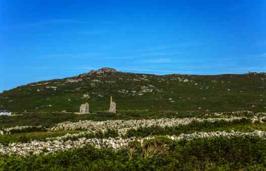 The impressive engine houses of Carn Galver in west Cornwall, a major tin mine of the 19th century.