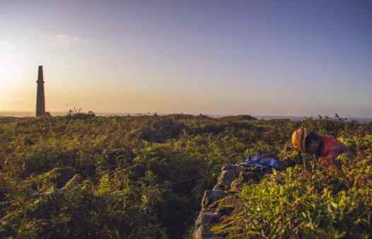 Cornish sunset at its best as a Cornwall Underground Adventures guide reaches the surface